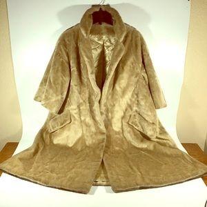 Vintage  Faux Fur Coat Women's Dark Brown